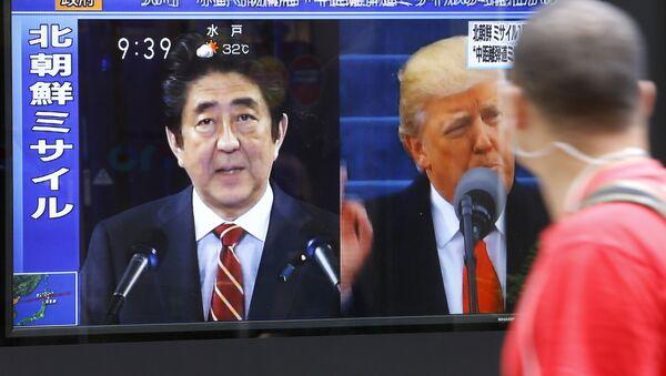 Šinzo Abe i Donald Tramp - Sputnik Srbija