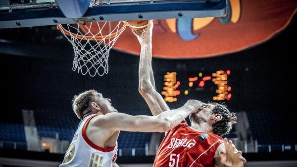 Utakmica Srbija Rusija na Evropskom prvenstvu u Košarci. - Sputnik Srbija