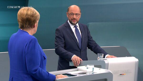 Ангела Меркел и Мартин Шулц - Sputnik Србија