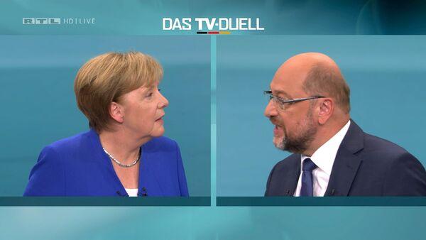 Angela Merkel i Martin Šulc - Sputnik Srbija