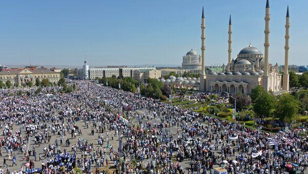 Митинг у Грозном у знак подршке муслиманима народа Рохинџа - Sputnik Србија