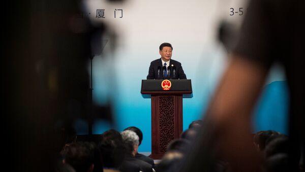 Председник Кине Си Ђинпинг говори на конференцији за медије на самиту БРИКС-а - Sputnik Србија