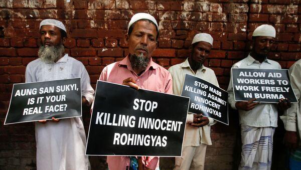 Protesti podrške rohinđa muslimanima koji stradaju u Mjanmaru - Sputnik Srbija