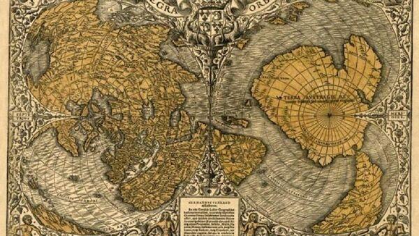 Карта Антарктика - Sputnik Србија