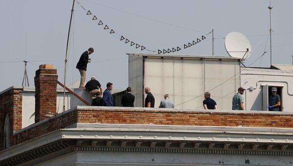 Ljudi na krovu ruskog konzlata u San Francisku - Sputnik Srbija