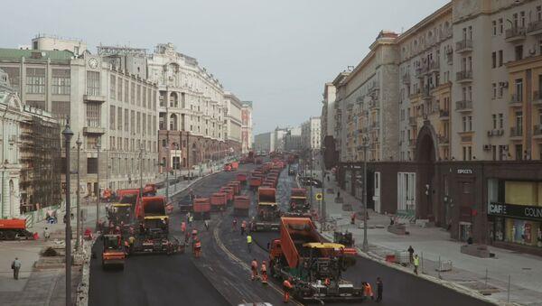 Rekonstrukcija Tverske ulice u Moskvi - Sputnik Srbija