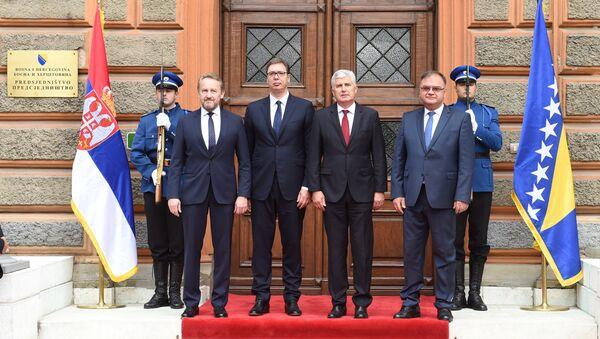 Bakir Izetbegović , Aleksandr Vučić, Dragan Čović i Mladen Ivanić - Sputnik Srbija