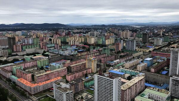 Пјонгјанг - плански изграђен, из птичије перспективе подсећа на Нови Београд. - Sputnik Србија