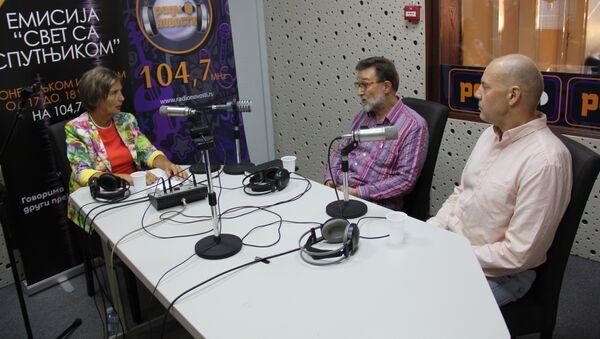 Ljubinka Milinčić, Borislav Korkodelović i Aleksandar Pavić - Sputnik Srbija