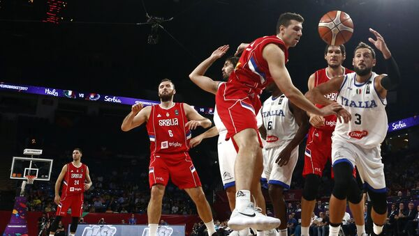 Srbija i Italija na Evropskom prvenstvu u košarci - Sputnik Srbija