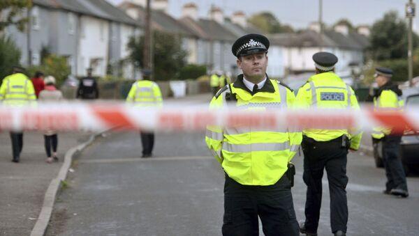 Лондонска полиција близу метро станице у којој је извршен терористички напад. - Sputnik Србија