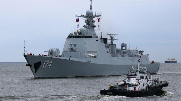 Ракетни разарач Хефеј кинеске морнарице у Балтичком мору - Sputnik Србија