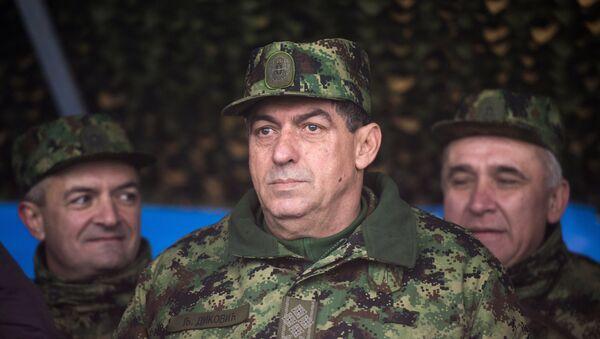 Načelnik Generalštaba Ljubiša Diković na vojnim vežbama - Sputnik Srbija
