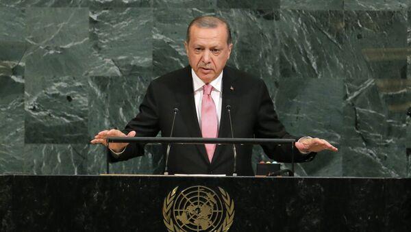 Председник Турске Реџеп Тајип Ердоган говори пред Генералном скупштином УН - Sputnik Србија