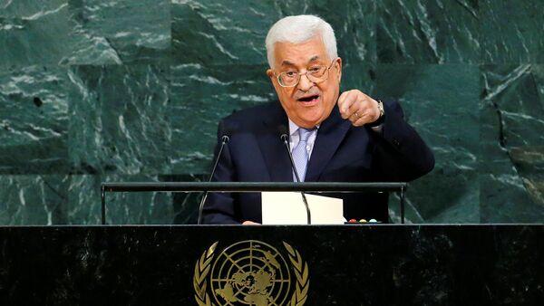 Palestinski predsednik Mahmud Abas drži govor u UN - Sputnik Srbija