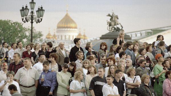 Žitelji Moskve na Trgu Manjež - Sputnik Srbija