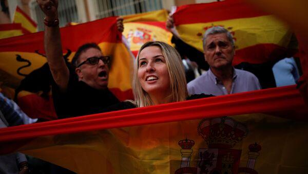 Протест у Барселони - Sputnik Србија