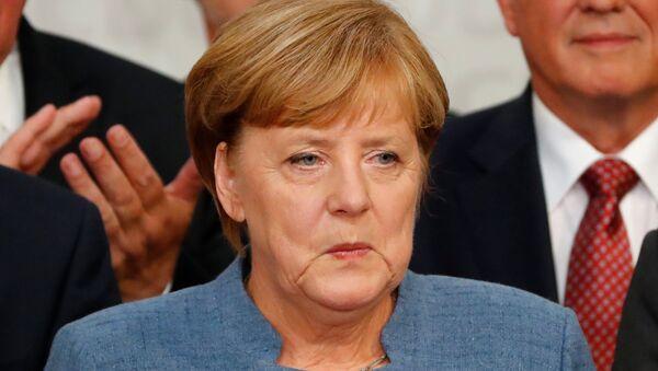Reakcija Angele Merkel na rezultate izbora u Nemačkoj. - Sputnik Srbija