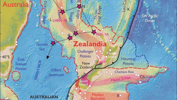 Карта некадашњег континента Зеландије - Sputnik Србија