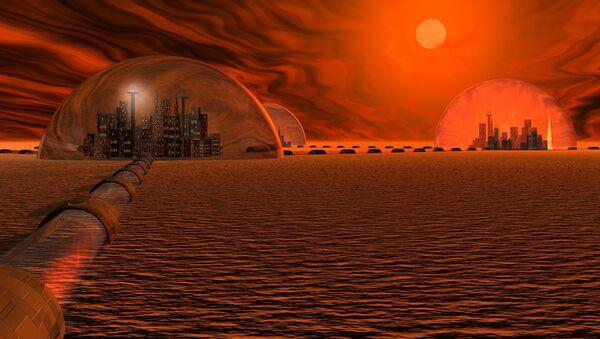 Концепт града на Марсу - Sputnik Србија