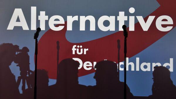 Proekciя logotipa nemeckoй partii Alьternativa dlя Germanii (AfD) - Sputnik Srbija