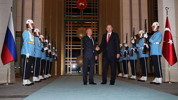 Vladimir Putin i Redžep Tajip Erdogan - Sputnik Srbija