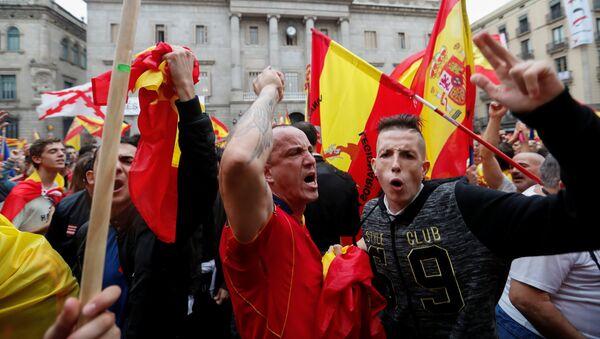Протест у Барселони против независности Каталоније - Sputnik Србија