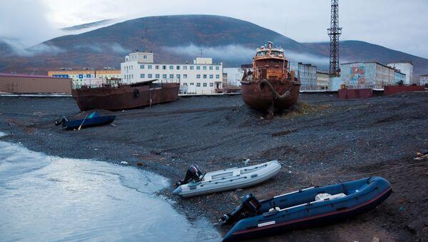 Арктичка лука Певек на Северном морском путу - Sputnik Србија