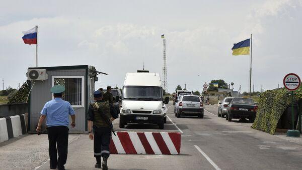 Гранични прелаз Џанкој на руско-украјинској граници - Sputnik Србија