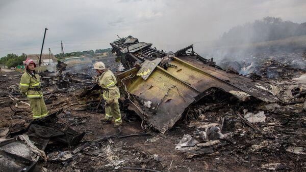 Спасиоци раде на месту пада малезијског авиона Боинг 777 на лету МХ17 у Доњецку - Sputnik Србија