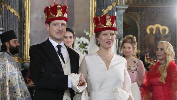 Venčanje princa Filipa Karađorđevića i Danice Marinković - Sputnik Srbija
