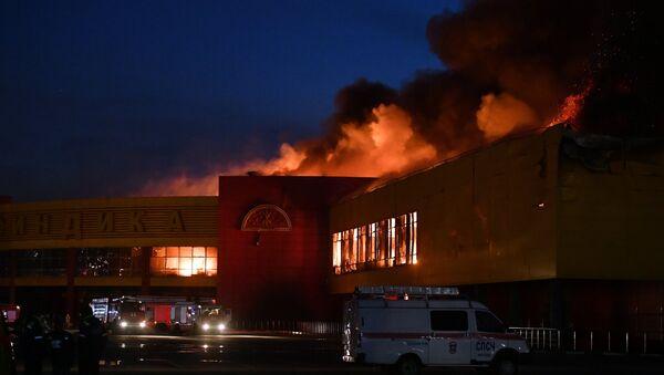 Požar u trgovinskom centru Sindika u Moskvi - Sputnik Srbija