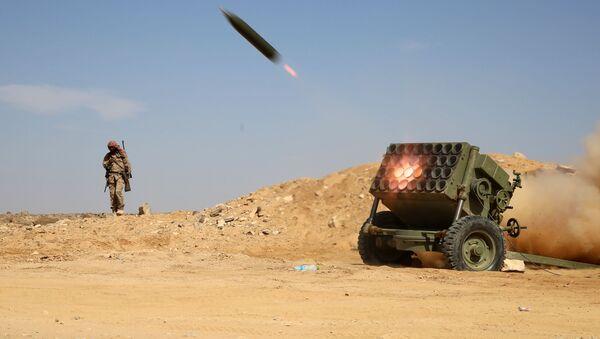 Raketni lansirni sistem ustanika u Jemenu - Sputnik Srbija