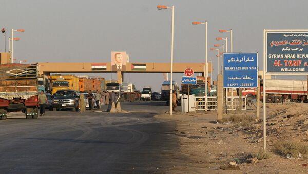Контролни пункт у области Ел Танф на граници Сирије и Ирака - Sputnik Србија
