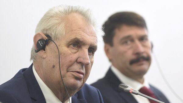 Милош Земан и Јанош Адер на самиту Вишеградске четворке - Sputnik Србија