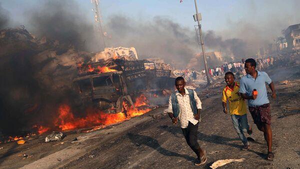 Експлозија камиона бомбе у Могадишу. - Sputnik Србија
