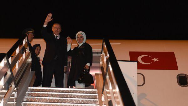Redžep Tajip Erdogan i Emine Erdogan - Sputnik Srbija