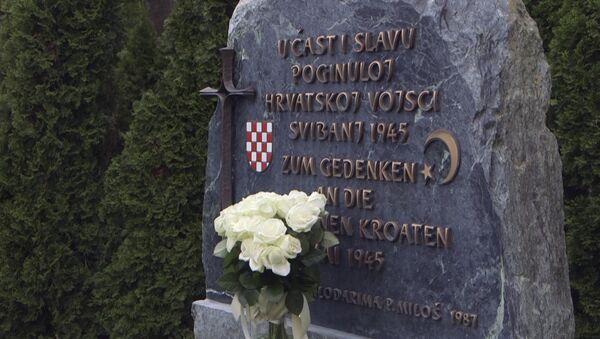 Споменик у Блајбургу посвећен усташким жртвама - Sputnik Србија