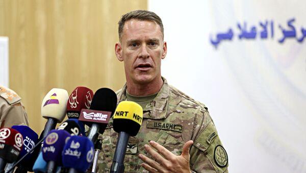 Портпарол америчке коалиције за борбу против ДАЕШ-а пуковник Рајан Дилон - Sputnik Србија