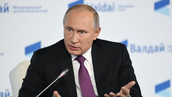 Predsednik Rusije Vladimir Putin tokom sednice debatnog kluba Valdaj - Sputnik Srbija