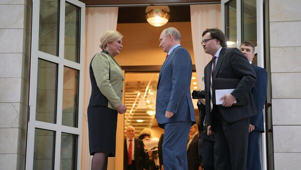 Vladimir Putin i Kolinda Grabar Kitarović u Sočiju - Sputnik Srbija