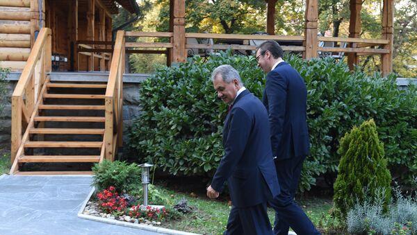 Aleksandar Vučić i Sergej Šojgu - Sputnik Srbija