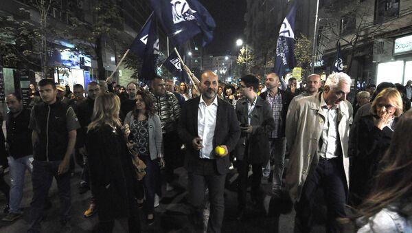 Saša Janković na protestu - Sputnik Srbija