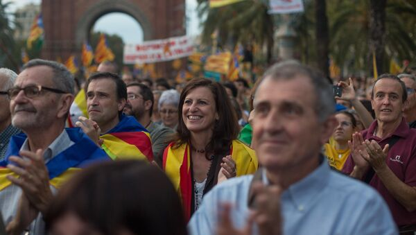 Барселона, митинг - Sputnik Србија