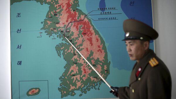 Sverna Koreja, mapa - Sputnik Srbija