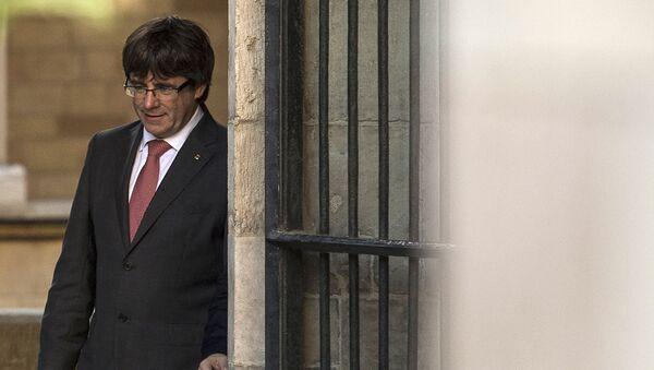 Каталонски лидер Карлес Пуџдемон у згради Генералитета у Барселони - Sputnik Србија