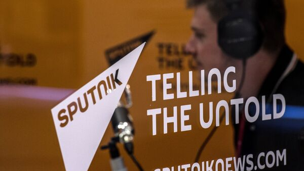 Štand novinske agencije i radija Sputnjik u Vladivostoku - Sputnik Srbija