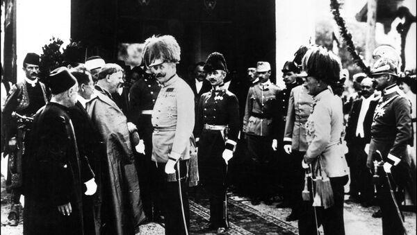 Autrougarski nadvojvoda Franc Ferdinand uoči atentata u sarajevu 28. juna 1914. - Sputnik Srbija