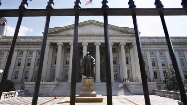 Zgrada Ministarstva finansija SAD u Vašingtonu - Sputnik Srbija