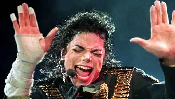 Pevač Majkl Džekson tokom koncerta u Singapuru 1993. - Sputnik Srbija